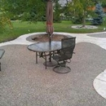 Exposed Aggregate Concrete (Rocky Top) Patio