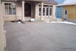 Exposed Aggregate Concrete Model Home Driveway